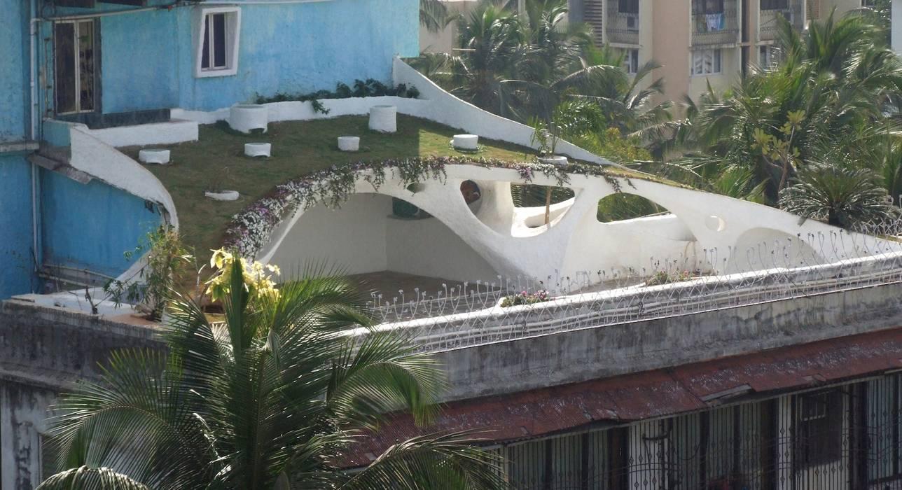 Rooftop Garden ariel view Mediterranean style garden by The White Room Mediterranean Concrete
