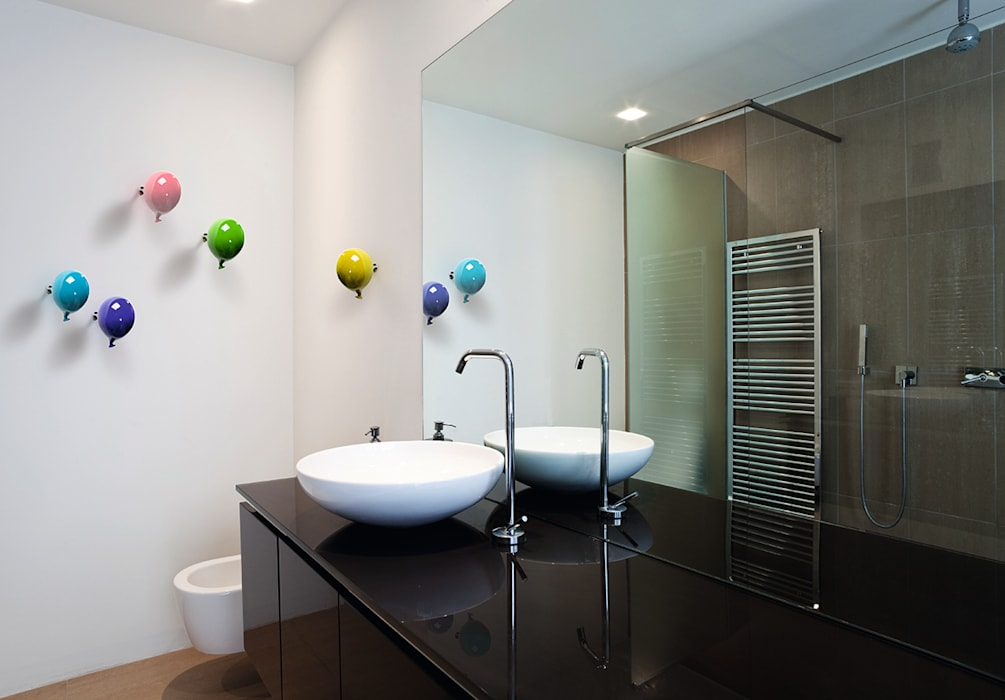 Gancio appendiabiti da parete mini balloon bagno in stile for Vendita complementi d arredo