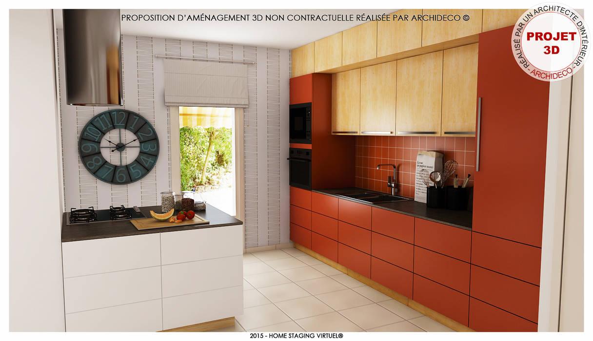 Magnifique et optimisée. Apprécier et cuisiner par ArchiDeco Moderne