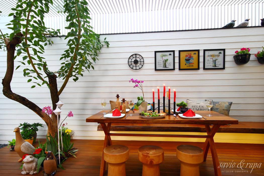 Alfresco Dining Area: scandinavian  by Savio and Rupa Interior Concepts ,Scandinavian