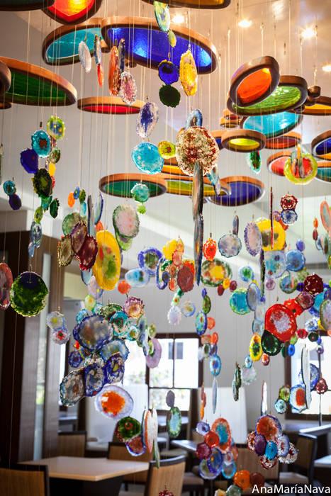 MAR DE MEDUSAS Ana Maria Nava Glass Restaurantes Vidrio Multicolor