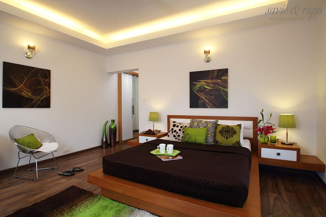 Guest Bedroom Modern style bedroom by Savio and Rupa Interior Concepts Modern
