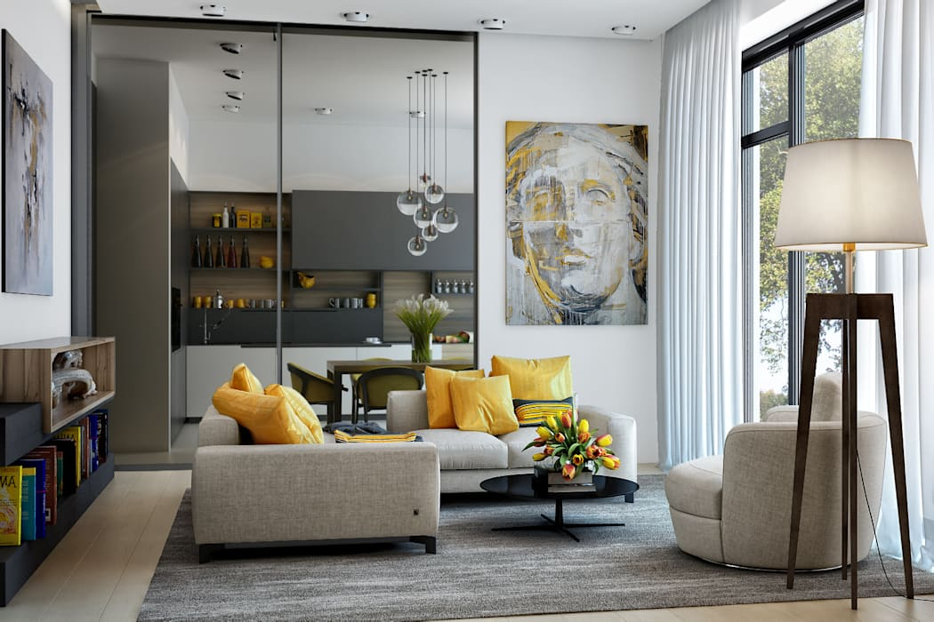 Livings de estilo escandinavo de PRIVALOV design Escandinavo