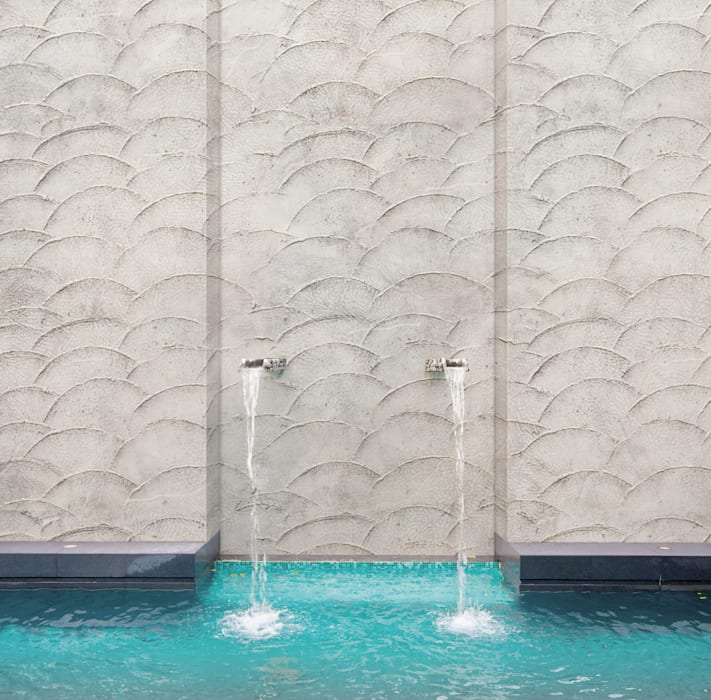Wodoodporne tapety do kuchni i łazienek. Kolekcja H2O firmy Tecnografica od BandIt Design Nowoczesny