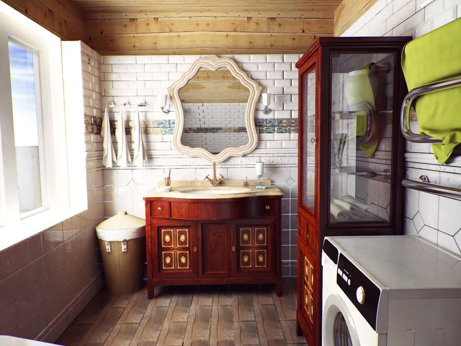 Country style bathroom by Alena Zakharova Country