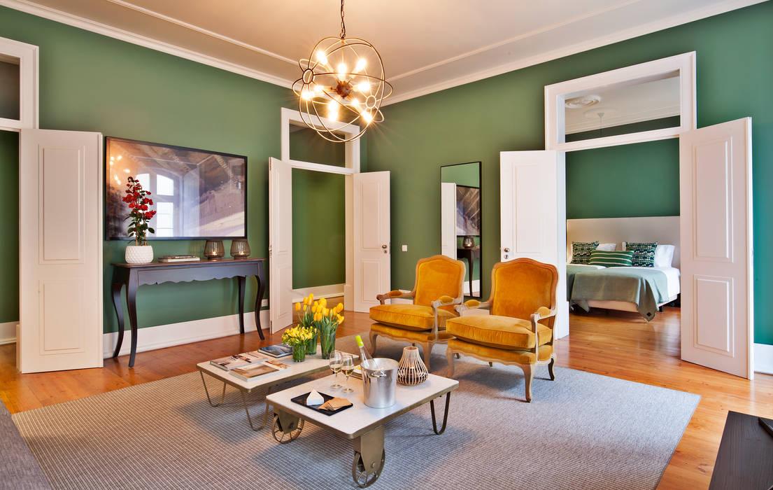 Living room by Pureza Magalhães, Arquitectura e Design de Interiores