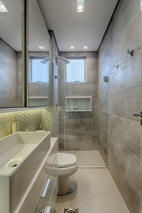 Salle de bain rustique par Flaviane Pereira Rustique Béton