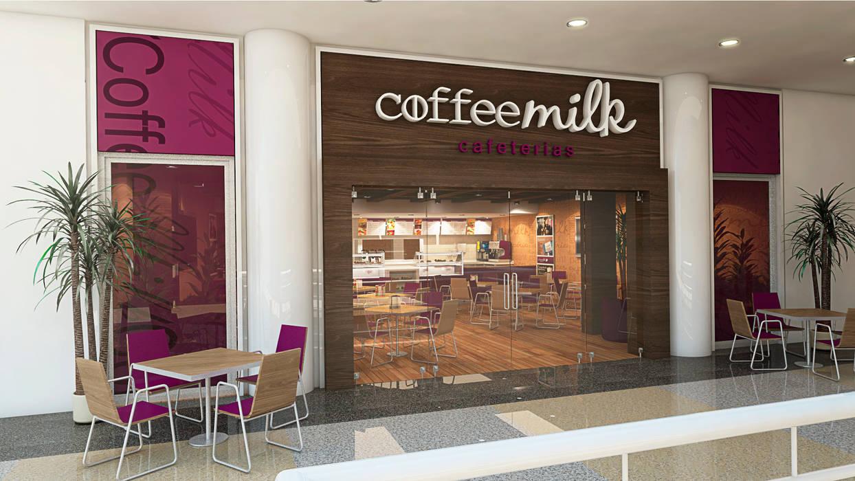 Fachada de Local Comercial: Restaurantes de estilo  por Arq.AngelMedina+