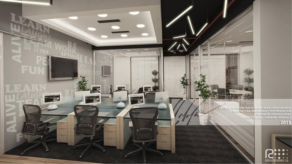 Area de Trabajo Principal: Oficinas de estilo  por Arq.AngelMedina+