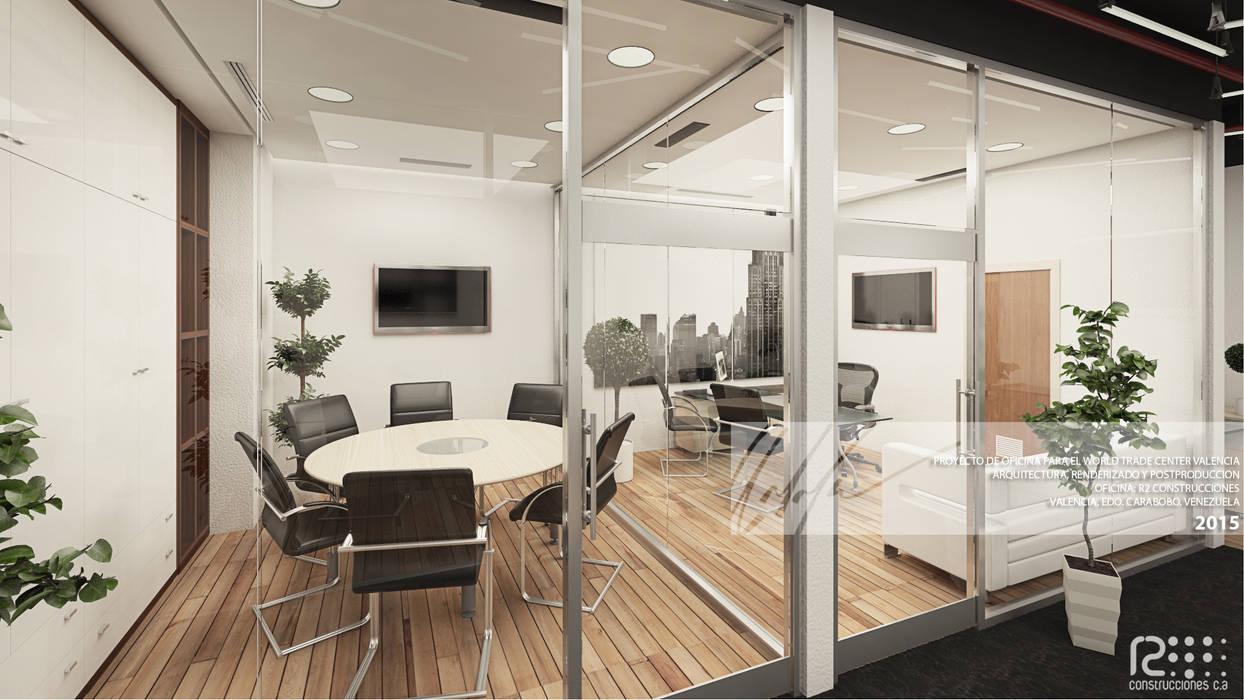 Oficina Principal Y Sala De Reuniones: Oficinas de estilo  por Arq.AngelMedina+