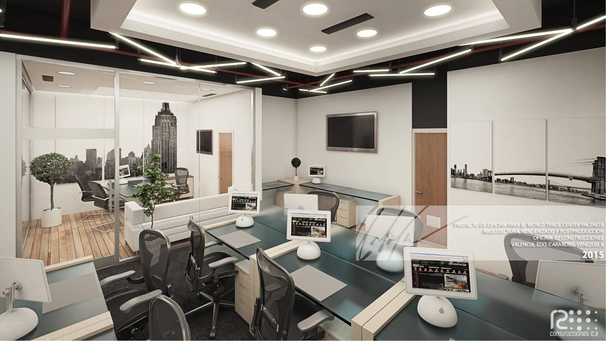 Area De Trabajo Principal Oficinas de estilo minimalista de Arq.AngelMedina+ Minimalista