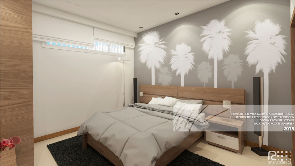 DORMITORIO PRINCIPAL Cuartos de estilo minimalista de Arq.AngelMedina+ Minimalista Madera Acabado en madera