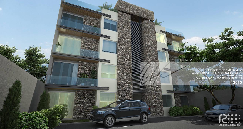 FACHADA PRINCIPAL Casas de estilo minimalista de Arq.AngelMedina+ Minimalista Piedra