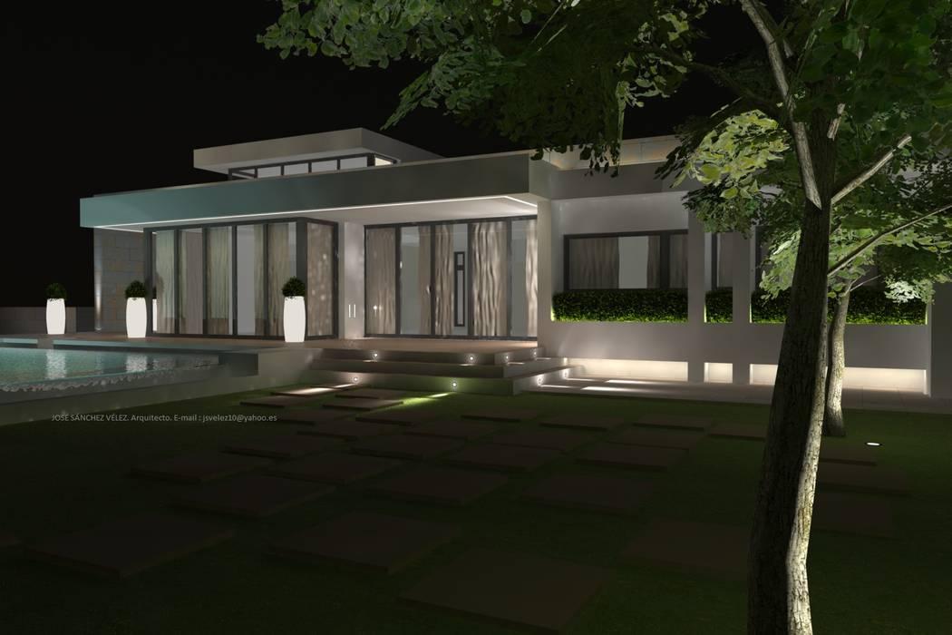 Nhà phong cách Địa Trung Hải bởi DYOV STUDIO Arquitectura. Concepto Passivhaus Mediterráneo. 653773806 Địa Trung Hải