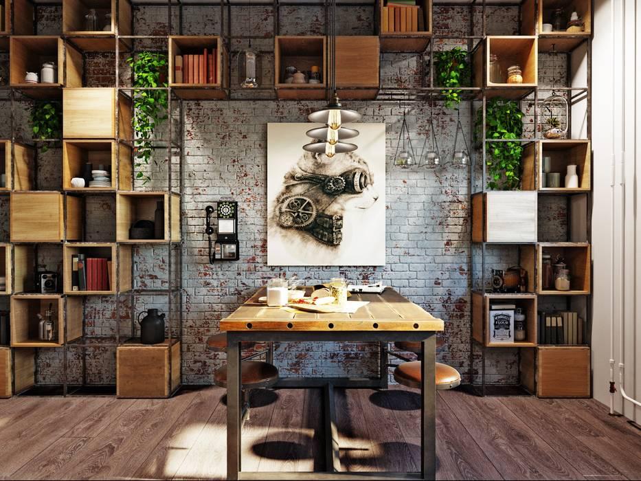 Cozinhas industriais por Дизайн-мастерская 'GENESIS' Industrial