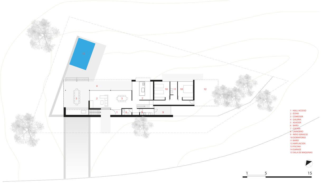 現代房屋設計點子、靈感 & 圖片 根據 CCMP Arquitectura 現代風