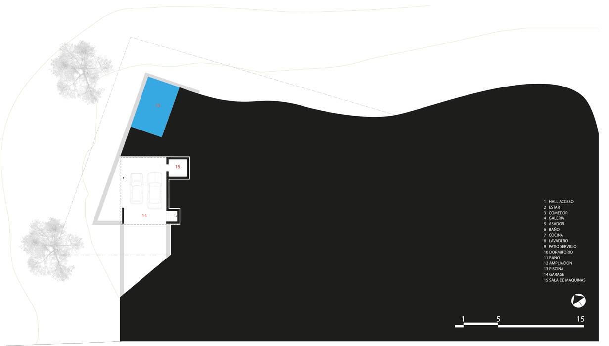 Casas de estilo  por CCMP Arquitectura, Moderno