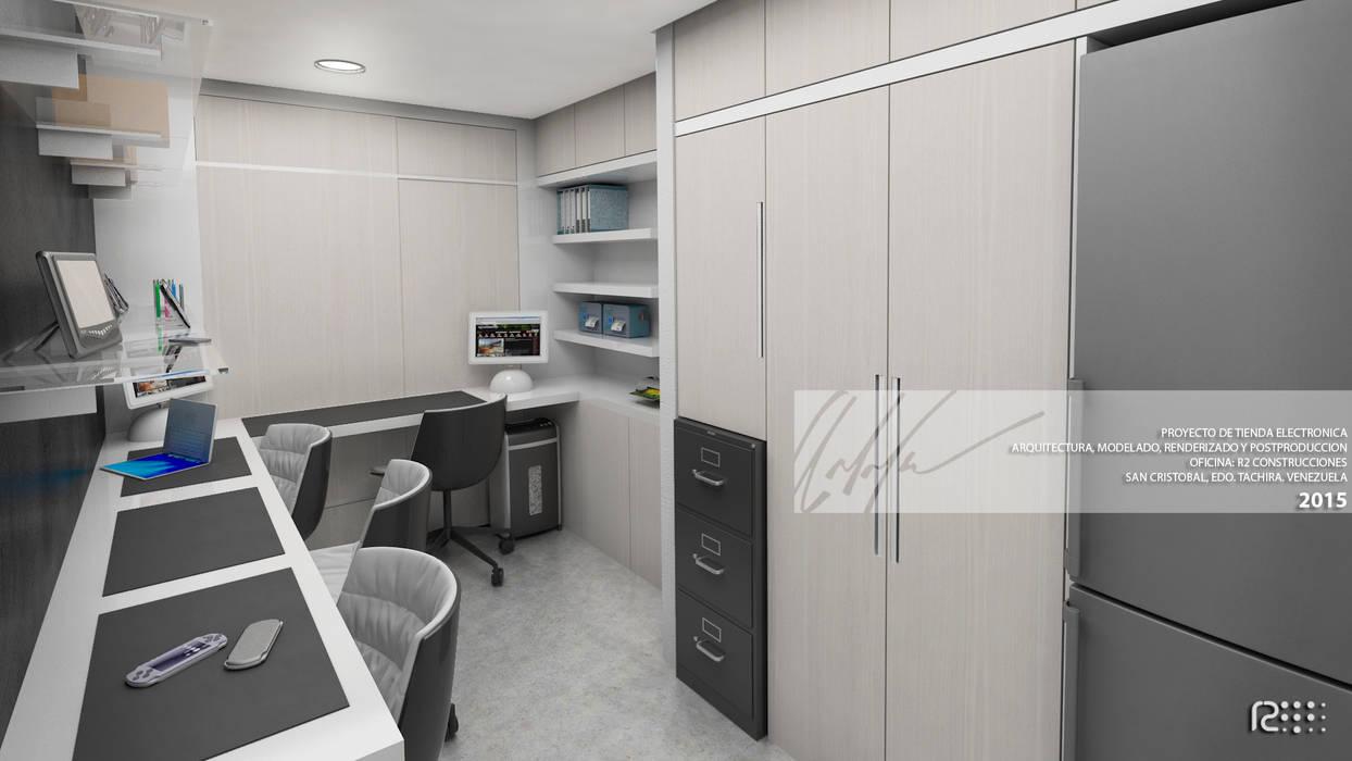 AREA DE SERVICIO TECNICO: Oficinas y Tiendas de estilo  por Arq.AngelMedina+