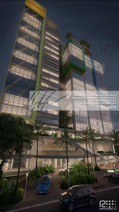 Fachada Principal Casas modernas de Arq.AngelMedina+ Moderno Metal