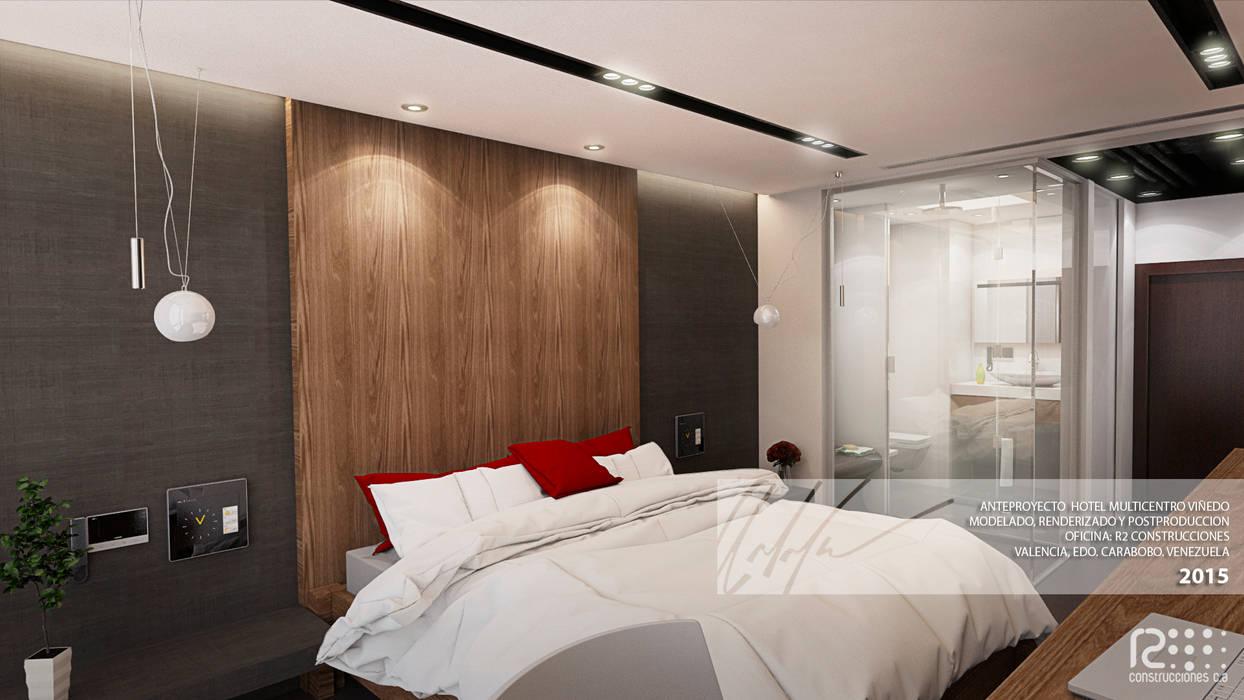 Habitacion tipo : Cuartos de estilo  por Arq.AngelMedina+