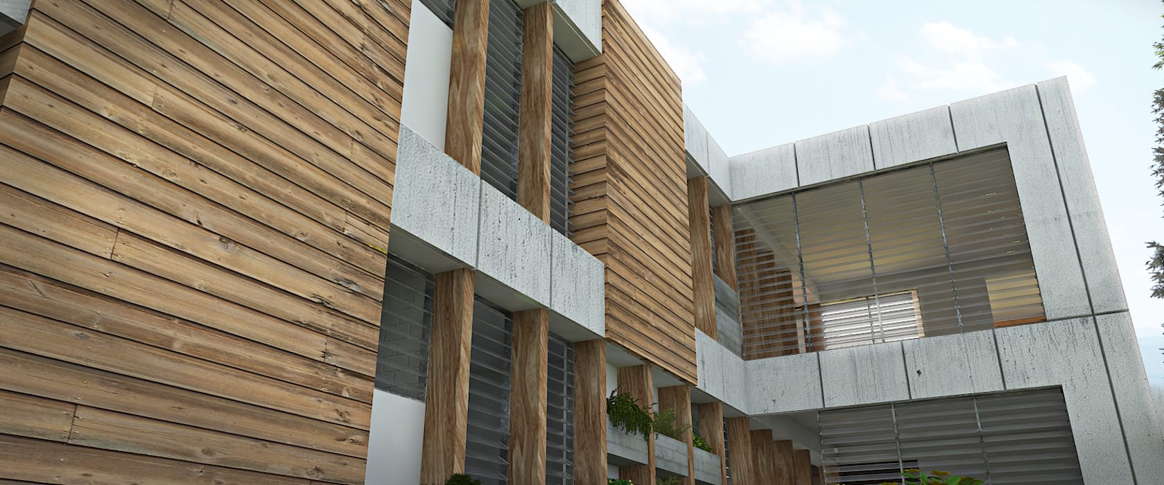 AREA DE AMPLIACION Casas de estilo minimalista de Arq.AngelMedina+ Minimalista Ladrillos
