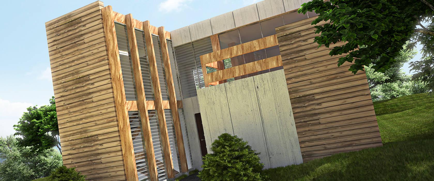 AREA DE AMPLIACION Casas de estilo minimalista de Arq.AngelMedina+ Minimalista Madera Acabado en madera