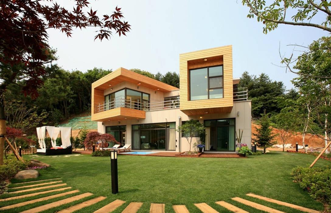 풍경,그곳에 살어리 랏다 모던스타일 주택 by 한글주택(주) 모던