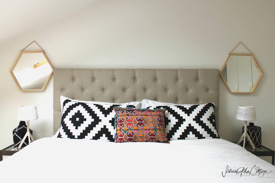 master bedroom - project cool flat: Chambre de style de style Moderne par Severine Piller Design LLC