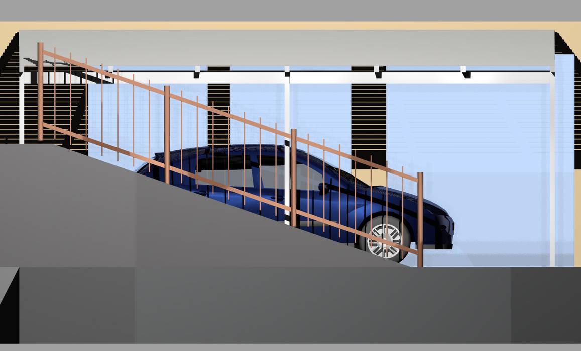 Stato di progetto: Garage/Rimessa in stile in stile Moderno di Architetto Termografo Denise Vola