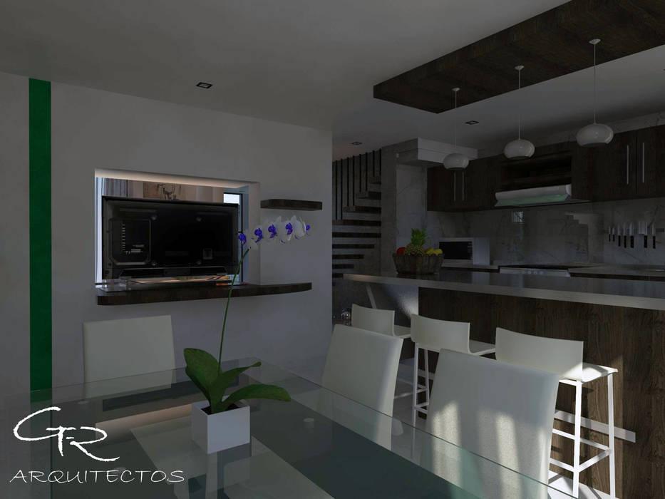 House Jc-1 : Cocinas de estilo minimalista por GT-R Arquitectos