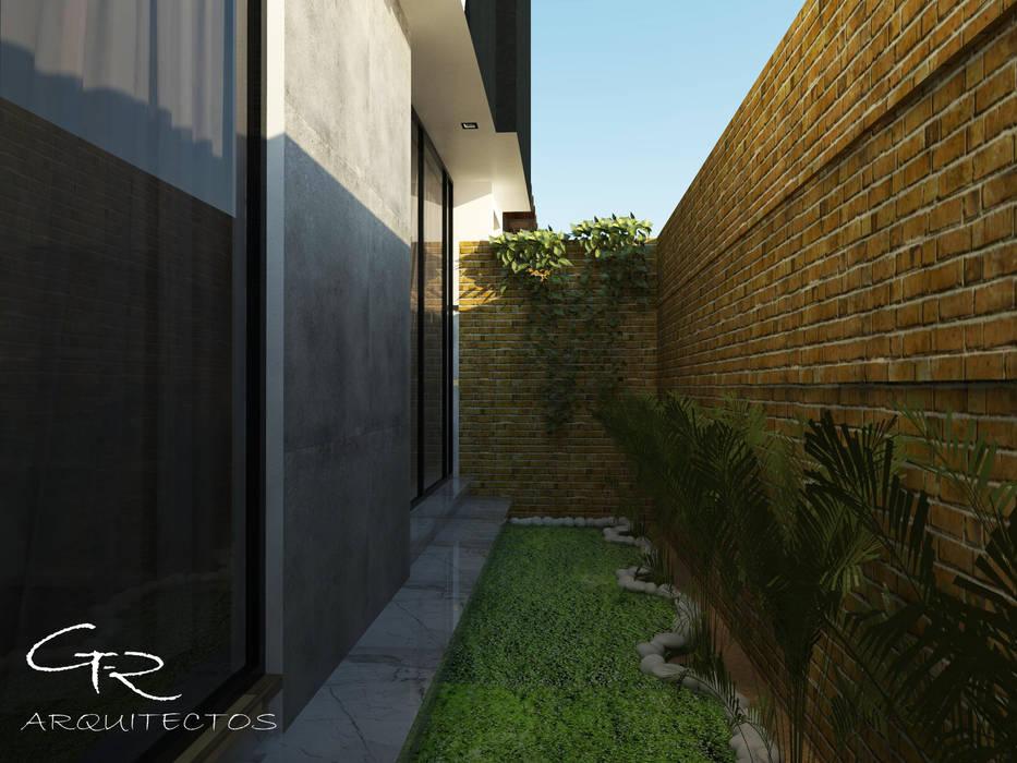 House Jc-1 : Jardines de estilo minimalista por GT-R Arquitectos