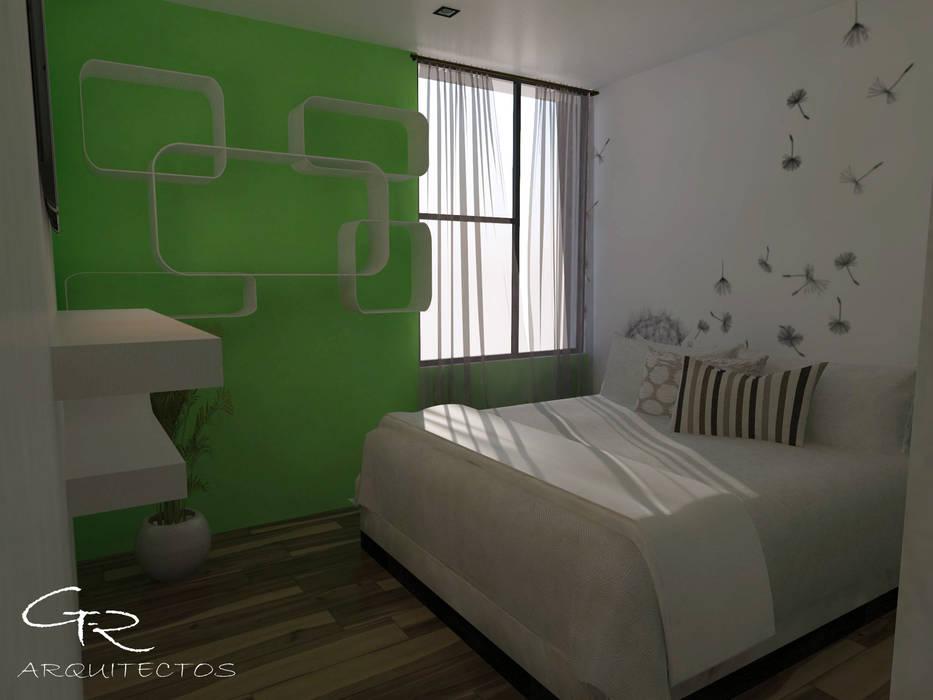 House Jc-1 : Recámaras de estilo minimalista por GT-R Arquitectos
