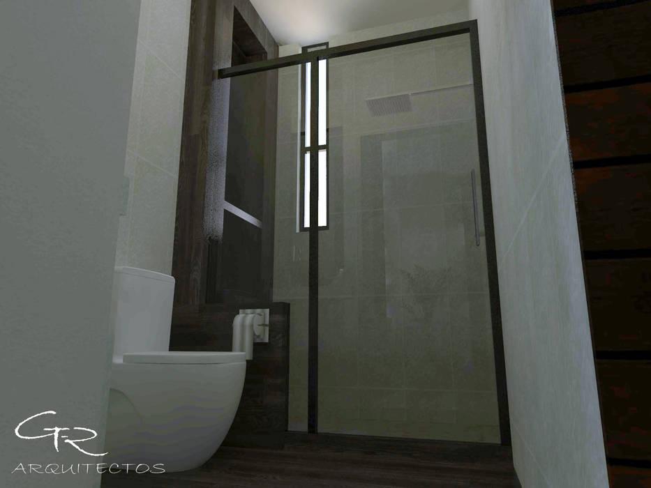 House Jc-1 : Baños de estilo  por GT-R Arquitectos
