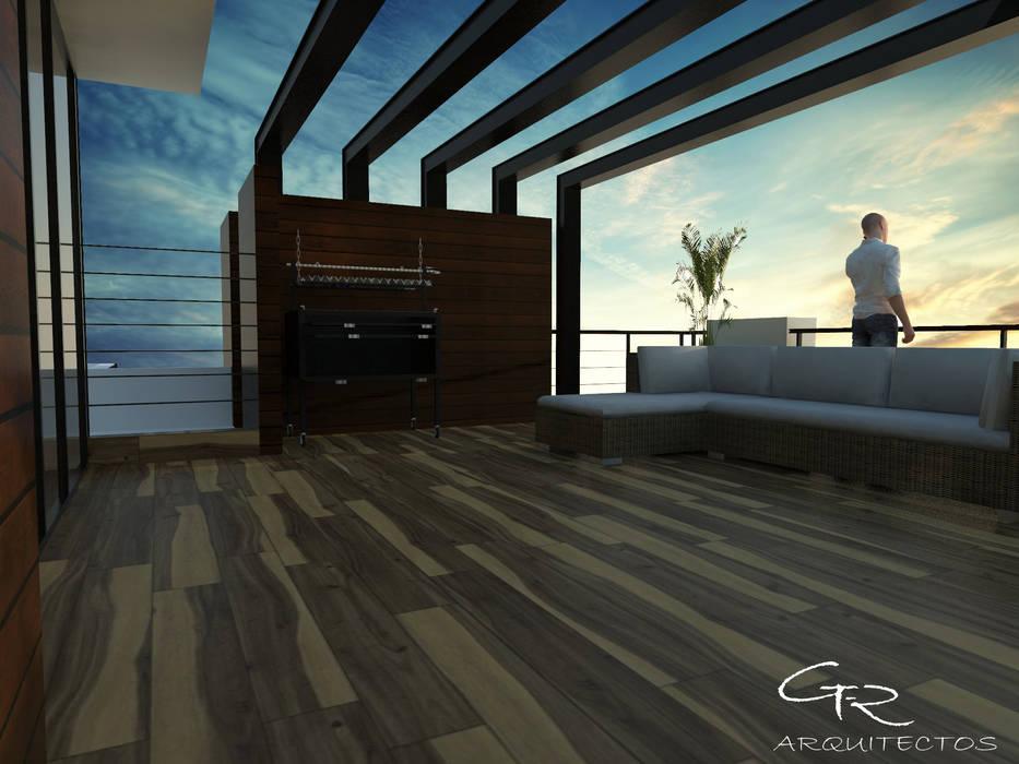 House Jc-1 : Terrazas de estilo  por GT-R Arquitectos