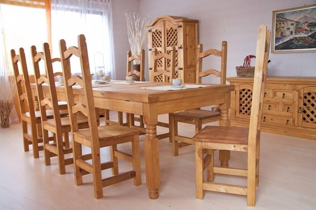 Esstisch 200cm Mexico Pinie Massiv Holz Möbel Esszimmertisch