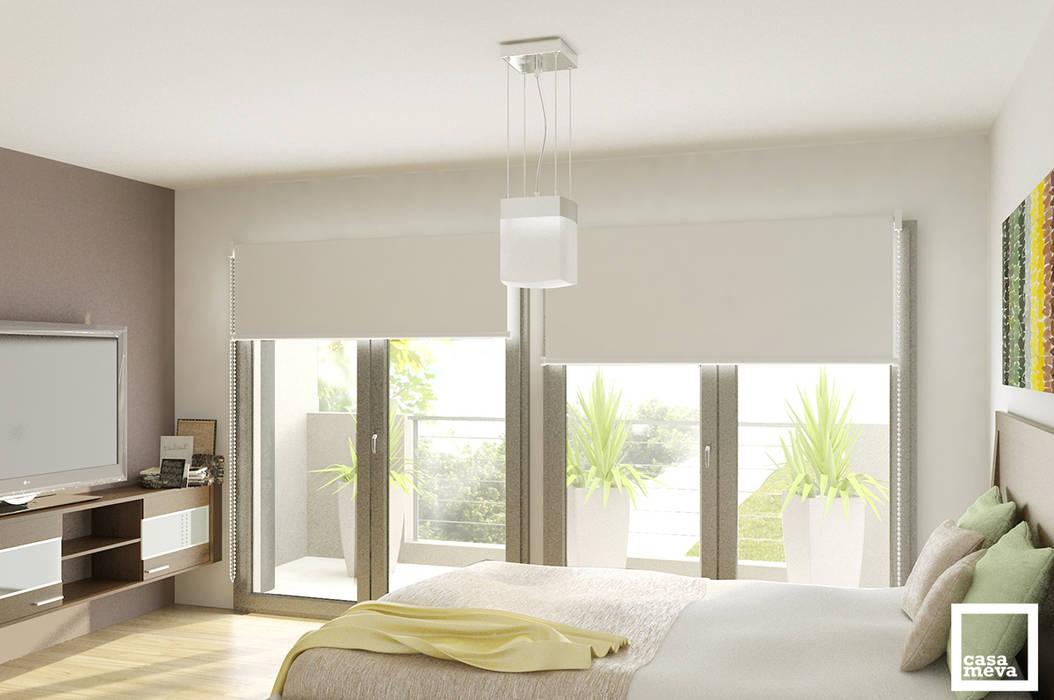 Dormitorio Principal: Dormitorios de estilo minimalista por Casa Meva Estudio