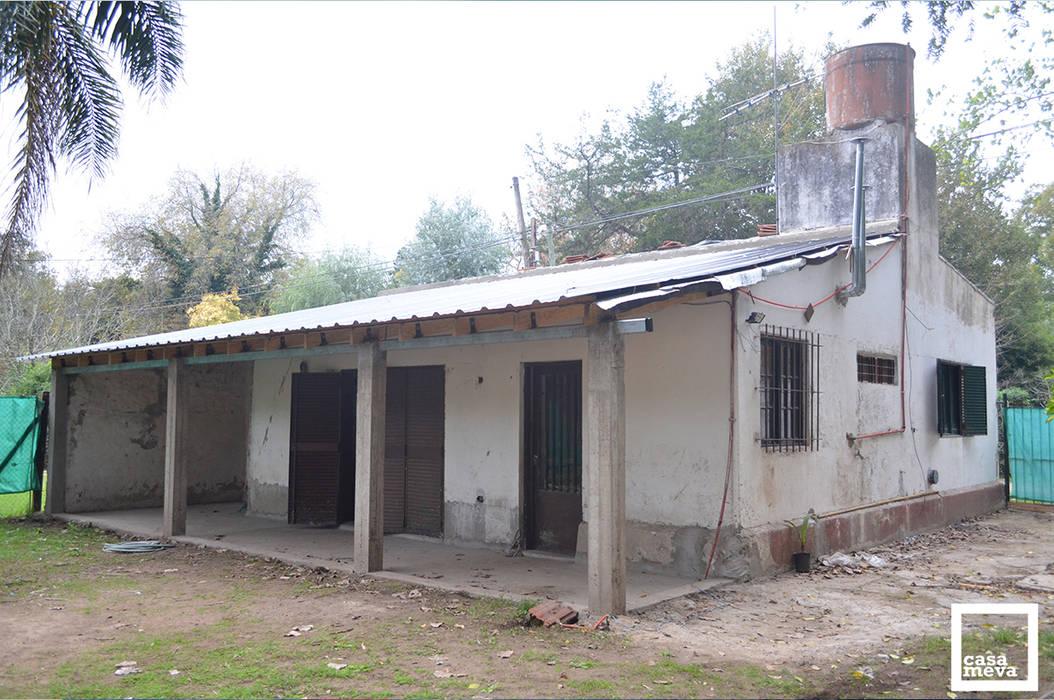 Antes l Fachada Posterior Casas de estilo minimalista de homify Minimalista