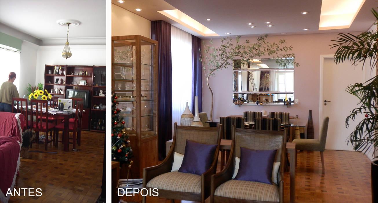 Reforma de Apartamento: Salas de jantar  por MBDesign Arquitetura & Interiores,