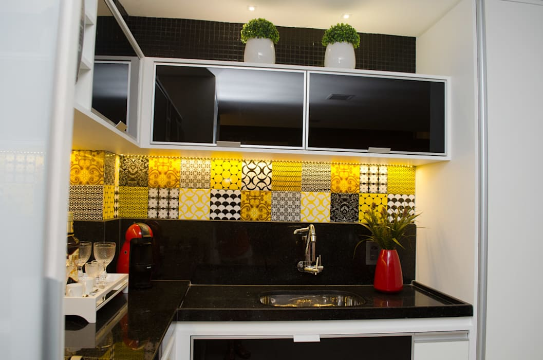 Cocinas de estilo  por Interiores Arquitetura & Design, Moderno