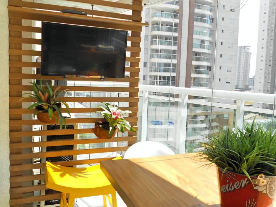 Projeto Varandas Paty Nascimento Designer de Interiores e Paisagista Varandas, alpendres e terraços tropicais