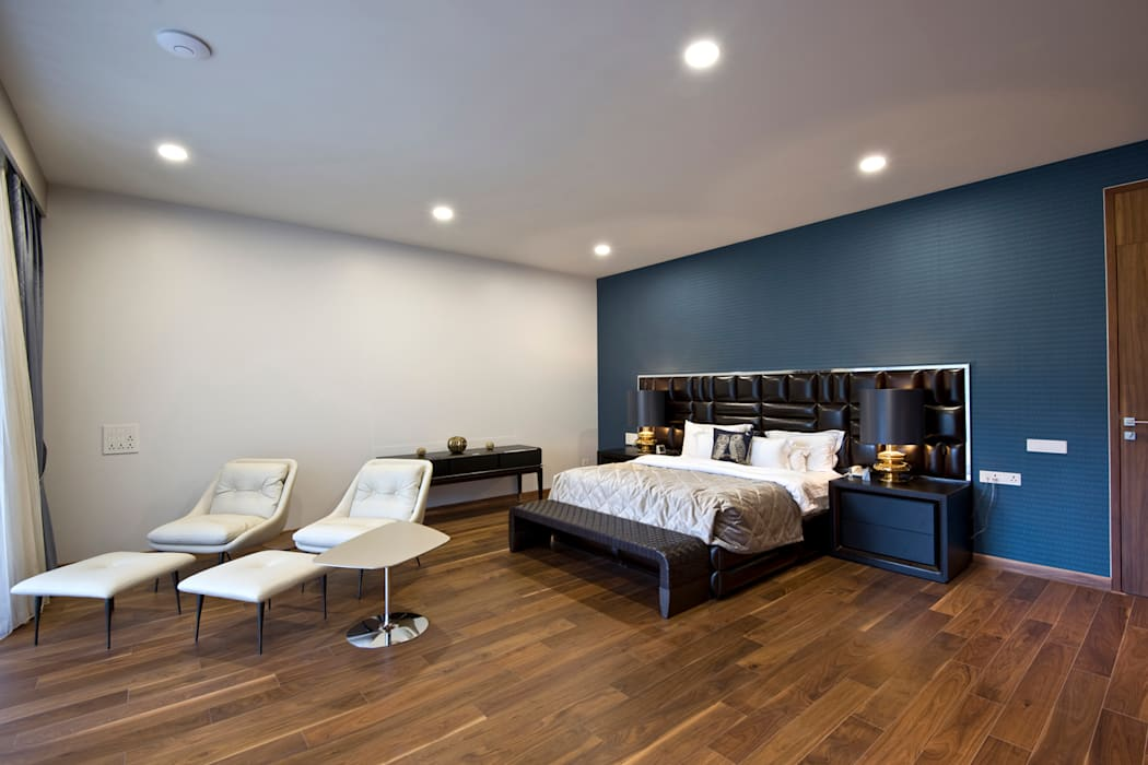 Private Residence, Koregaon Park, Pune Modern style bedroom by Chaney Architects Modern