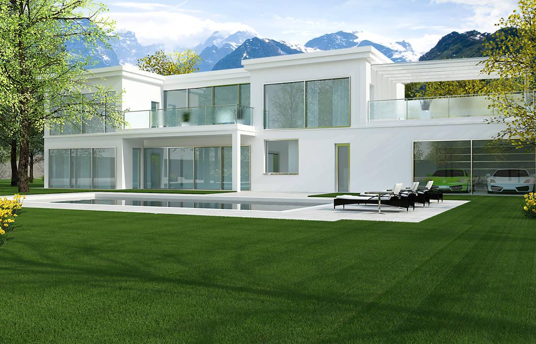 2P COSTRUZIONI srl 現代房屋設計點子、靈感 & 圖片