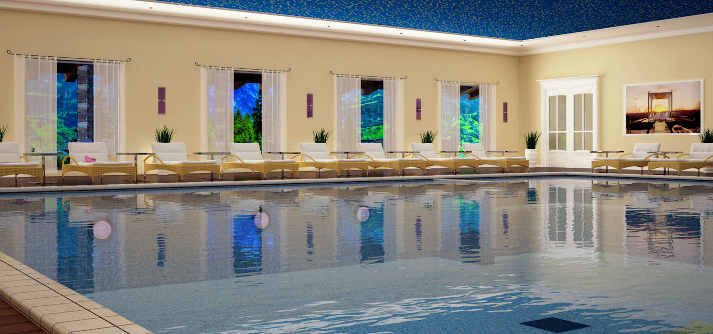 RENDERING 3D - CENTRO BENESSERE/SPA 2P COSTRUZIONI srl Hotel moderni