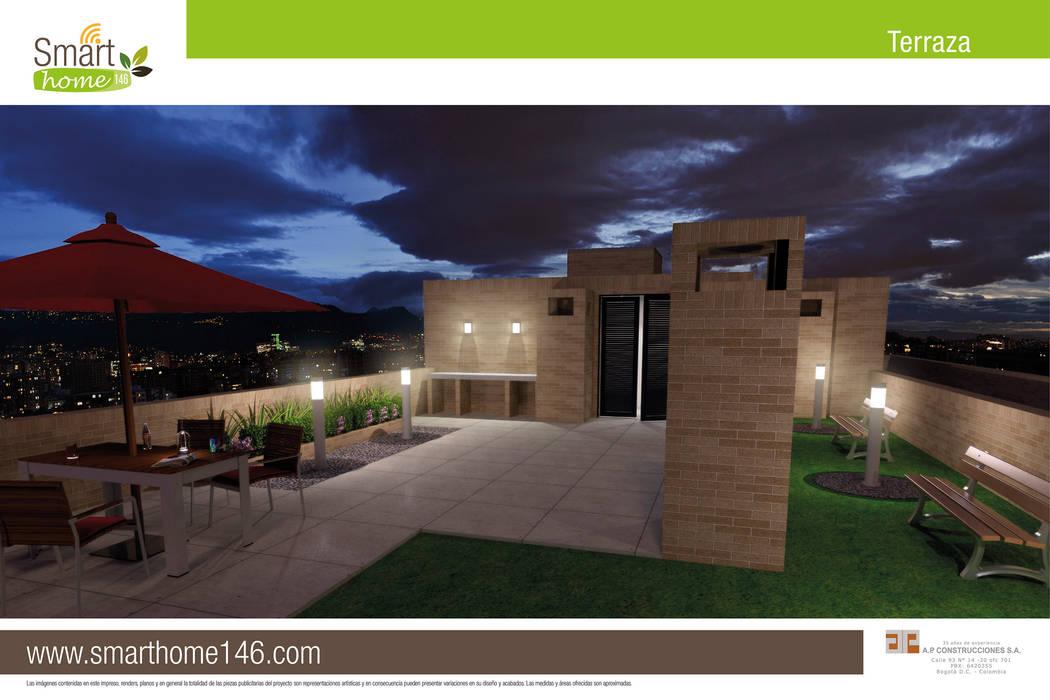 Terraza Balcones y terrazas de estilo moderno de AP Construcciones S.A. Moderno Concreto
