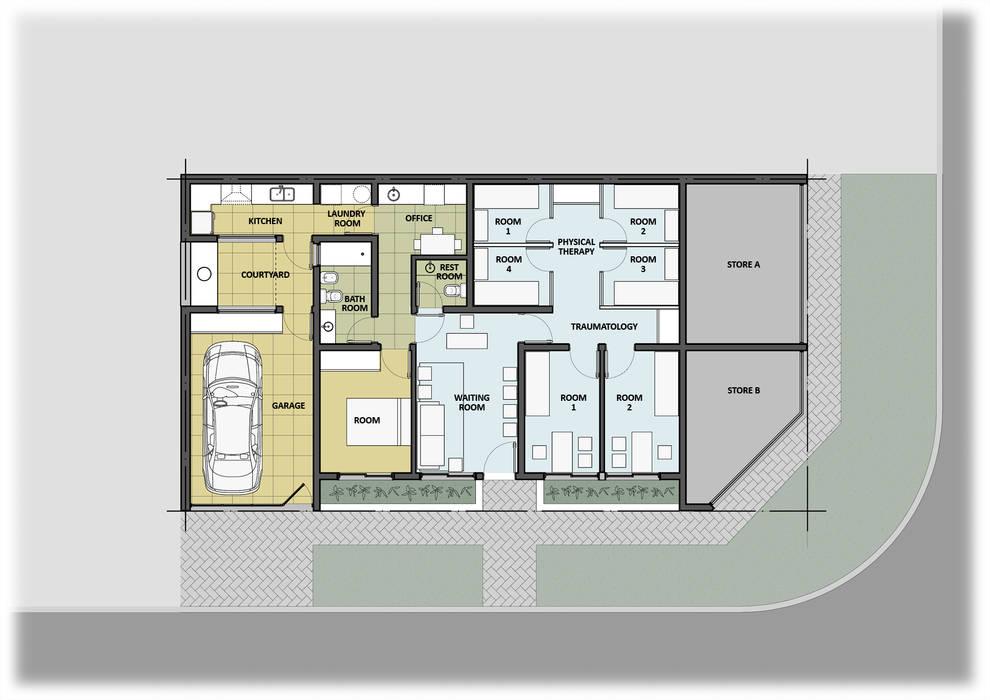 Ampliación: Estudios y oficinas de estilo moderno por GPA studio