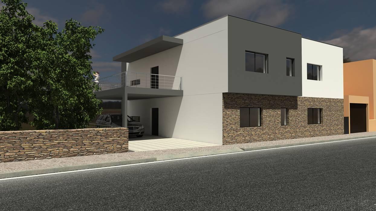 Habitação Bifamiliar Casas modernas por Marilia Pinto, Arquitetura Engenharia & Construção Moderno