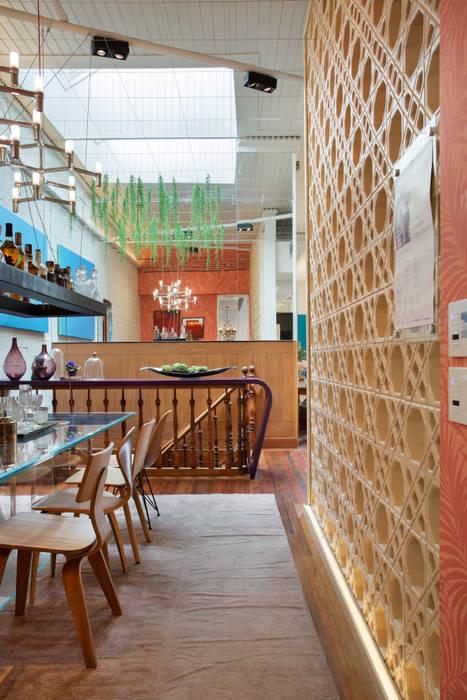 Sala e Jantar e Cozinha Casa Cor 2015 Salas de jantar ecléticas por Estúdio Barino | Interiores Eclético