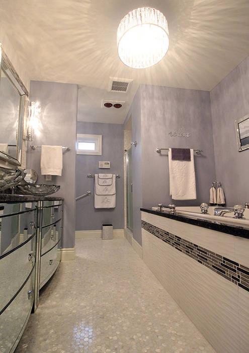 Award Winning Bathroom in Ontario, Canada Modern Bathroom by ShellShock Designs Modern Tiles