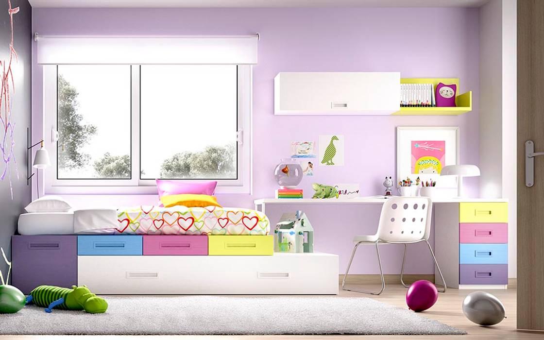 Mobiliário de criança por módulos Quartos de criança modernos por o quarto dos miúdos Moderno Madeira Acabamento em madeira