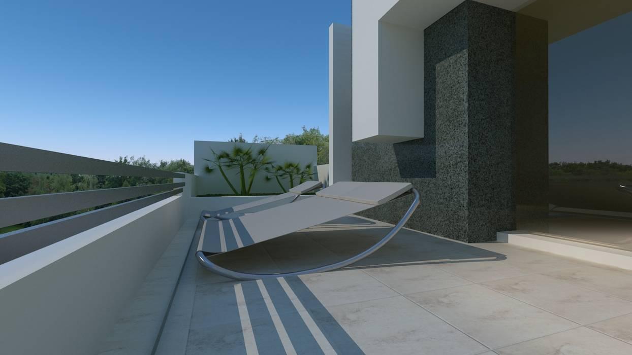 Casa Londres Balcones Y Terrazas Modernos De Couturierstudio